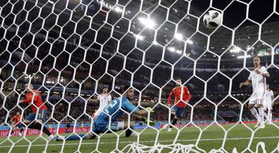 Iago Aspas marcó el empate de España sobre el final del partido.