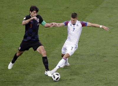 Islandia trató pero no pudo ante Croacia.