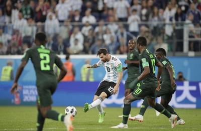 Messi buscó hacer daño durante el partido.