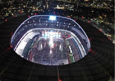 López Obrador cerró campaña en el Estadio Azteca.