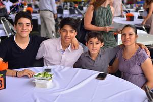 29062018 Mario Alberto, Roberto, Isaí y Rosario Guadalupe.