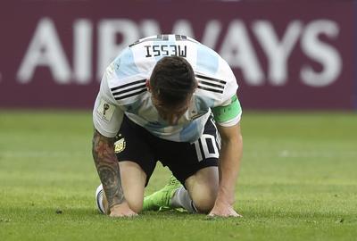 Messi falló una anotación y así se lamentó.