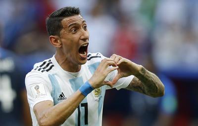 Al minuto 41, el mediocampista argentino Ever Banega habilitó a Ángel Di María, que desde lejos le pegó a portería para vencer al meta francés Hugo Lloris, marcando el 1-1.