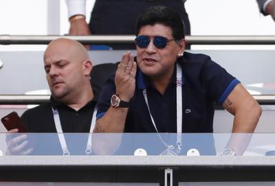 Maradona presenció el partido.