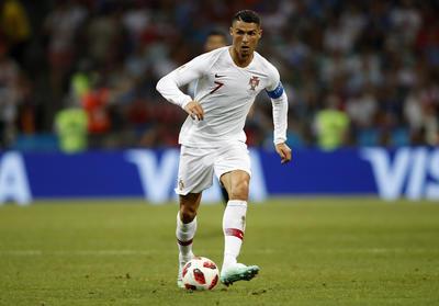 Cristiano Ronaldo durante el encuentro de Octavos de Final en Rusia.