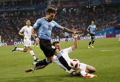 En un partido que inició tranquilo, Uruguay obtuvo la ventaja.