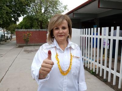 Matilde Valdés, candidata del PRD a la alcaldía de Torreón.