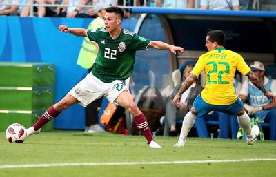 El jugador del PSV fue de los más insistentes en el área de Brasil.