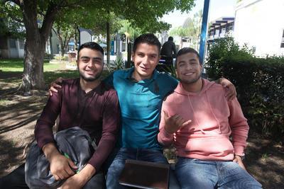 Cosme, Jorge y Paul.