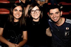 06072018 CONTENTOS.  Ana, Marcela y José Carlos.