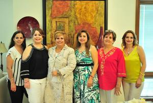 06072018 JARDINERAS EN SESIóN.  Nonis, Lupita, Marissa, Cynthia, Angélica y Coco.