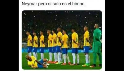 Las caídas de Neymar fueron protagonistas.