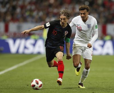 El gran juego de Luka Modric destacó en el partido ante Inglaterra.