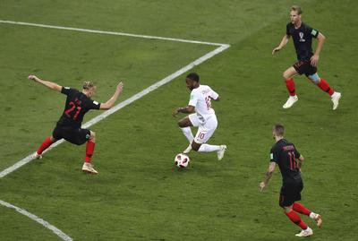 El más insistente al frente por Inglaterra fue Sterling.