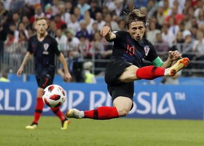 Modric fue de los más insistentes al frente de Croacia.