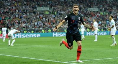 Mandzukic marcó el gol de la clasificación a la final para Croacia.