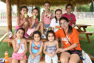 14072018 Miriam, Marie, Isabella, Sofía, Ximena, María, Mariana, Ximena R. y Paulina.