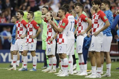 Los croatas sólo pudieron ver desde lejos cómo se levantó la Copa del Mundo.