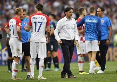 Zlatko Dalic tras la derrota ante Francia.
