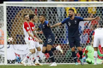 El juvenil jugador del PSG marcó de manera soberbia ante Croacia.