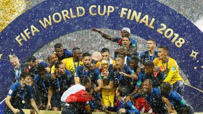 Hugo Lloris fue el encargado de levantar la Copa del Mundo.