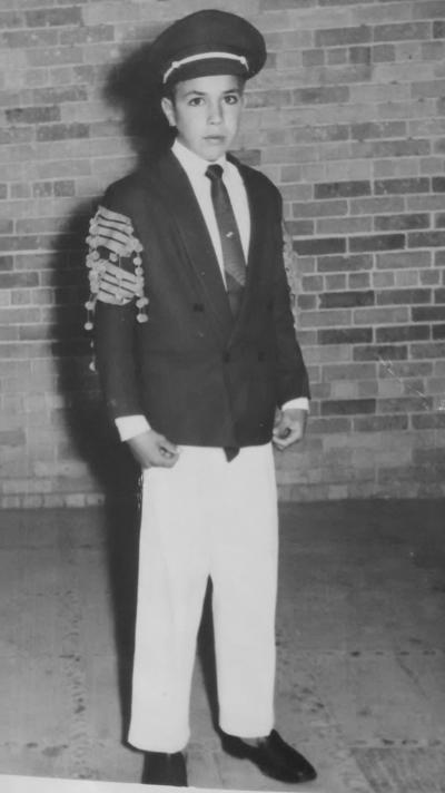 15072018 Homero Correa, integrante de la banda de guerra del Colegio Mijares, en 1960.