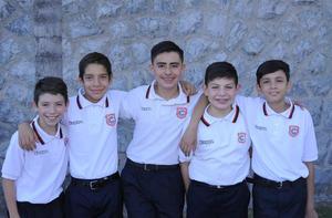 18072018 MUY CONTENTOS.  Carlos Eduardo, Iván, Sebastián, Santiago y Rodrigo.