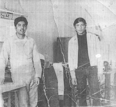 22072018 Fily López Sastre acompañado de Lino Salazar (f) en 1968.