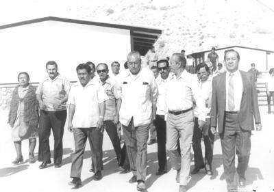 22072018 Ing. Eulalio Gutiérrez Treviño acompañado por Jesús Reyes García, José Solís Amaro, Mariano López Mercado e Ing. de la Peña.