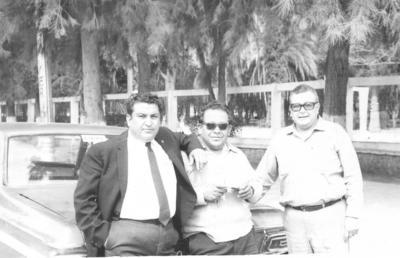 22072018 Raúl (f), Damáso (f) y Epifanio Pacheco Fabela (f) en febrero de 1970.