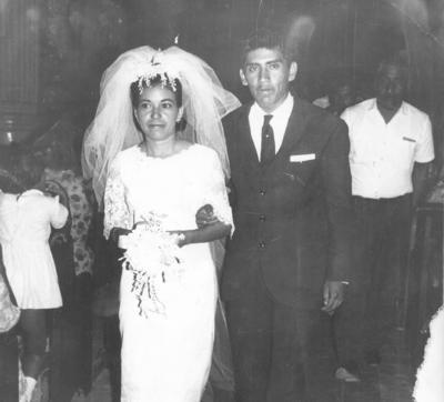 22072018 Prof. Arnulfo Ramírez Pinales y Profa. Delia Castillo Rico el 27 de julio de 1968. Actualmente, celebraron 50 años de matrimonio.