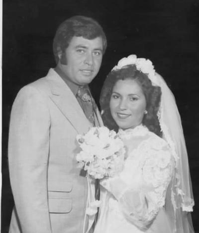22072018 Manuel de Jesús Ayala Rivas y Josefina Isela Ramirez Morales el día de su boda el 15 de julio de 1978.