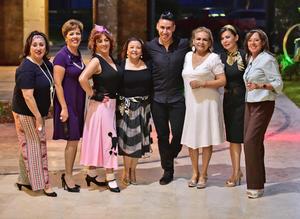 23072018 SE DIVIERTEN.  Amigos se dieron cita en la fiesta de Laura Díaz, quien celebró un año más de vida.