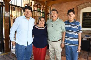 23072018 Óscar Cano, Yolanda Rodríguez, Abdiel y Rubén Cano Rodríguez.