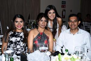 23072018 EN AMENA VELADA.  Marlene, Karime, Yolanda y Roberto.