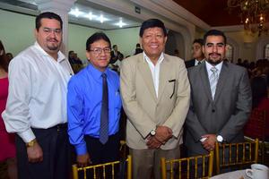 24072018 Rubén Medina, Juan Manuel, Raúl Rodríguez y Carlos Rangel.
