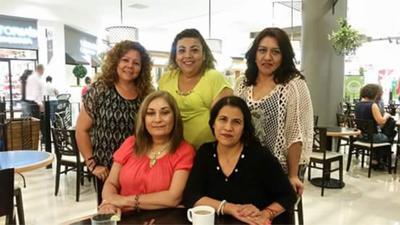 26072018 Vero Cázares, Liliana Robles, Lily Fdz., Sandra Garza y Lucy Campos.