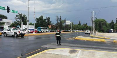 Las unidades de policía, realizaron operativos de prevención en las principales avenidas de la ciudad.