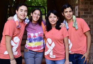 27072018 CURSO DE LíDERES.  Rodrigo, Angie, Daniela y Alejandro.