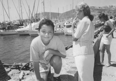 29072018 Sra. Socorro con su nieto, Alberto, en Baja California.  .
