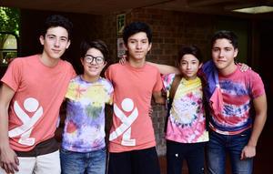 29072018 EN LA IBERO.  Jerson, Emilio, Santiago, Alejandro y Luis.