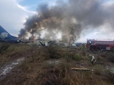 Se sabe que la aeronave se impactó con algún objeto cuando apenas había despegado, de esta forma cayó e impactó en la pista.