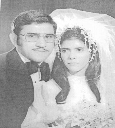 05082018 Lic. y C.P. Benjamín Balderas Luna y Sra. Ibet Rubio de Balderas en su enlace matrimonial el 17 de marzo de 1973.