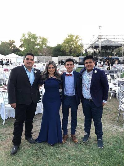 09082018 Ignacio Ayala, Mayumi Romo, Eliud Ignacio y Carlos Ignacio Ayala.