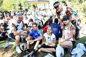 06082018 EN CARRERA ATLéTICA.  Rodolfo, Erika, Tairy, Erick y Jesús.