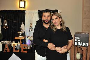 Con su esposa  Marcela