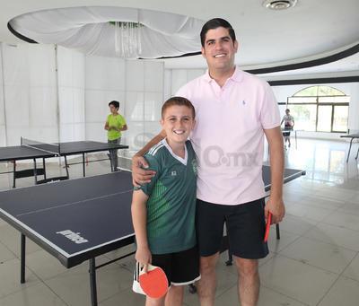 Javier Berrout y Javier Berrout Jr.