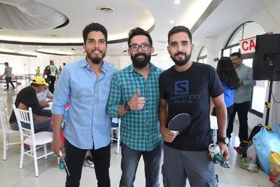 Daniel Alvarado, Nacho García y Mario Alcalde.