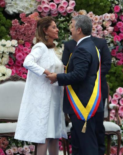 Iván Duque, presidente de Colombia junto a la vicepresidente Marta Lucía Ramírez.