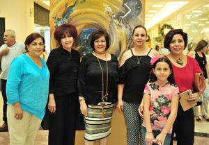 08082018 Expositoras: Alicia Serna, Rosario Rodríguez, Marcela Lozano, Laura Estrello y Berenice Gómez con la niña, Sofía Ceballos.